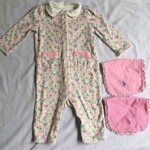 Ralph Lauren Baby Girl Floral Coverall